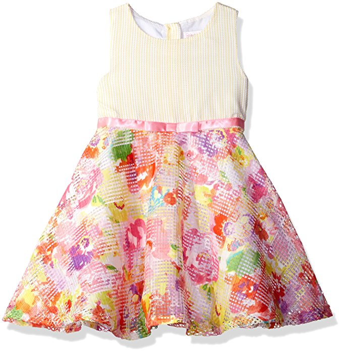 Youngland Girls Dress with Ribbon Waist