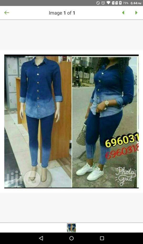 Ladies jeans top and trouser