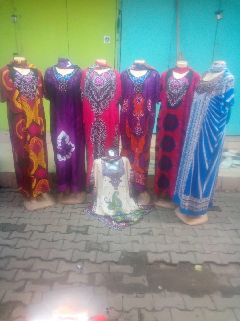 Caribbean floral maxi gown