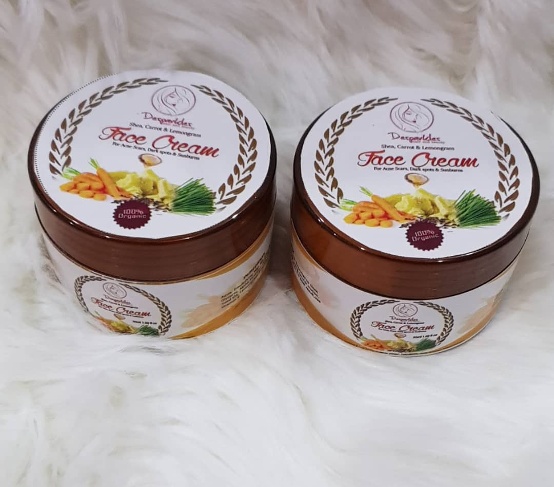 DESPARKLES SHEA, CARROT & LEMONGRASS FACE CREAM 100g