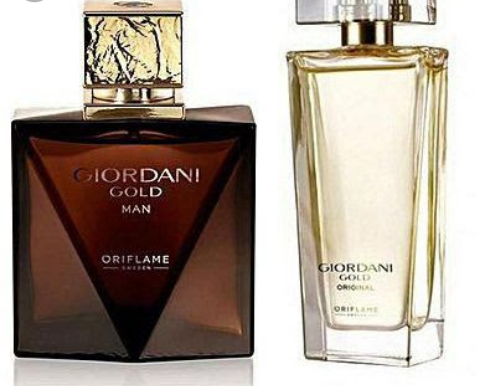 Giordani Gold man and woman