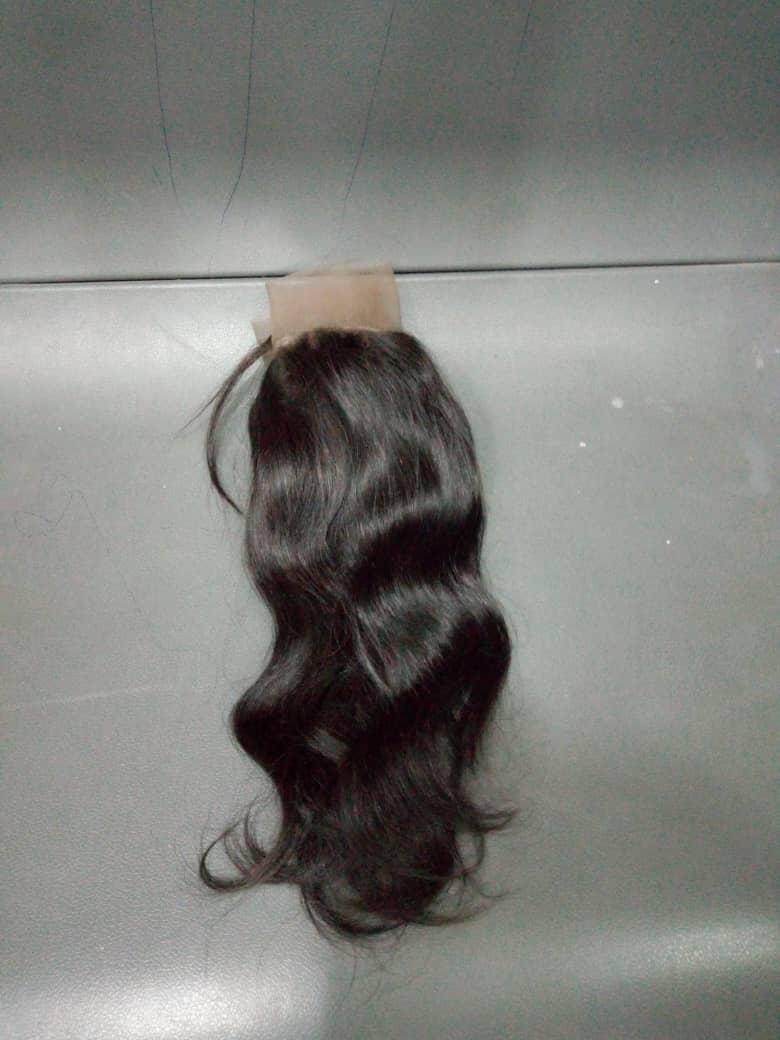8' inches 3Part Human Hair Closure