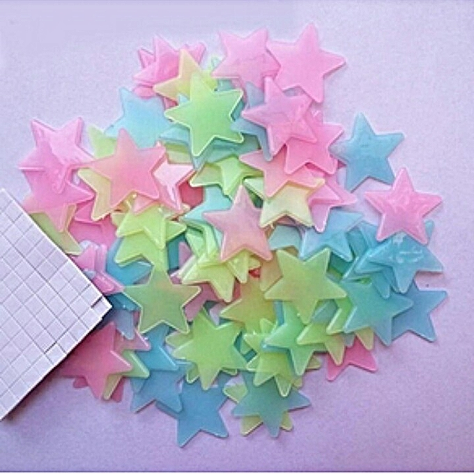 Generic 100PCS Stars Glow In The Dark Stickers Wall Decor For Kids/Baby , Home Bedrooms