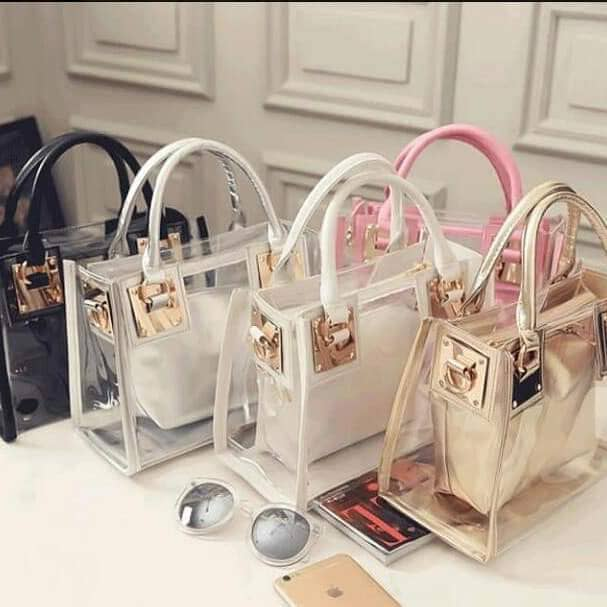 2 in 1 transparent bag