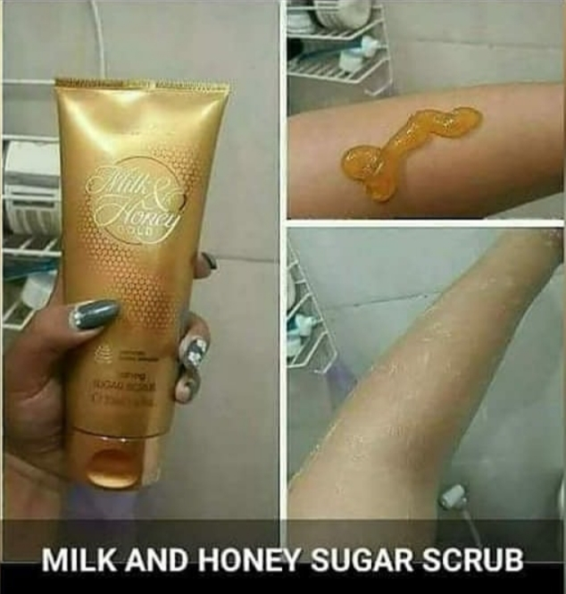 Milk and honey sugar scrub