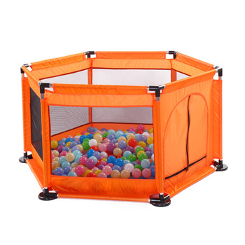 Playpen With Breathable Mesh And Colorful Balls