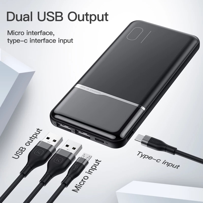 Power Bank 10000mAh Portable