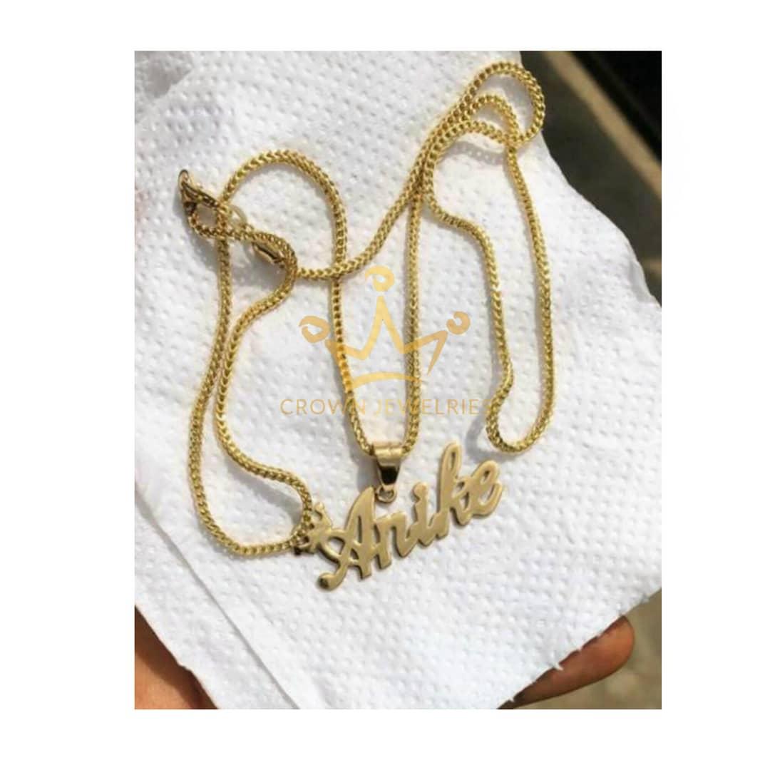 custom name necklace (18karats gold)