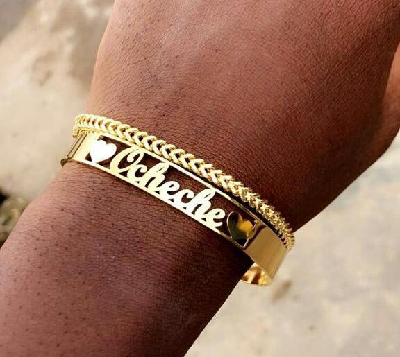 Name hand bracelet (stainless steel)