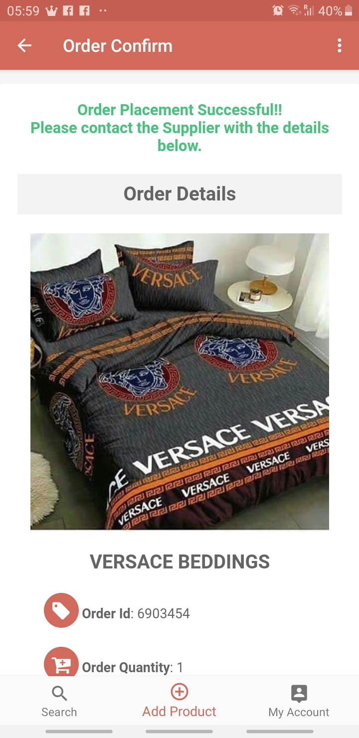 Versace bedding