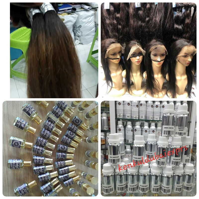 Oil perfume, Refill bottles,  human hairs, ombré attachments